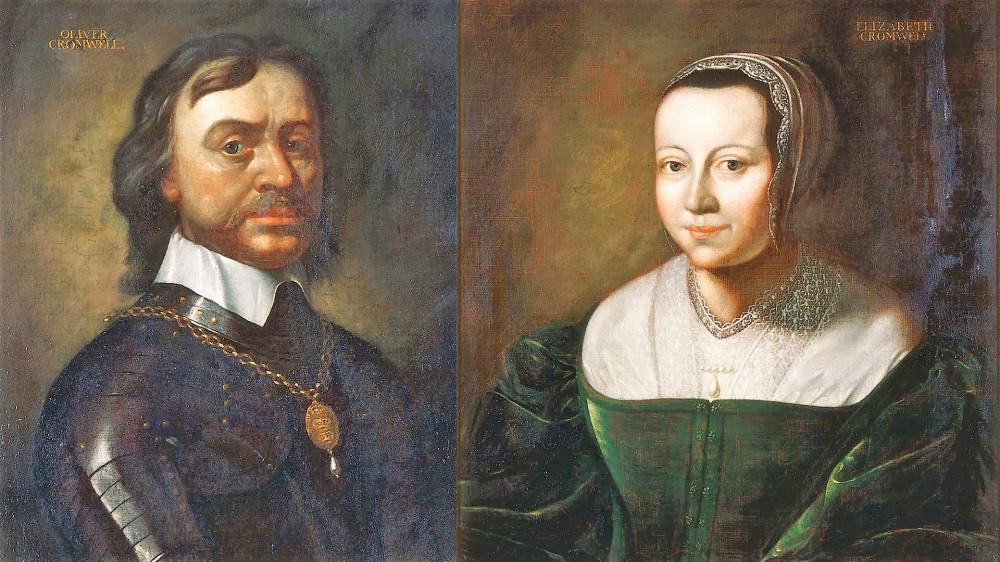 Оливер и Элизабет Кромвель