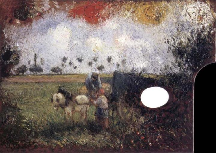 Камиль Писсаро. Палитра художника с пейзажем. Camille Pissarro (1830-1903) The Artist's Palette with a Landscape