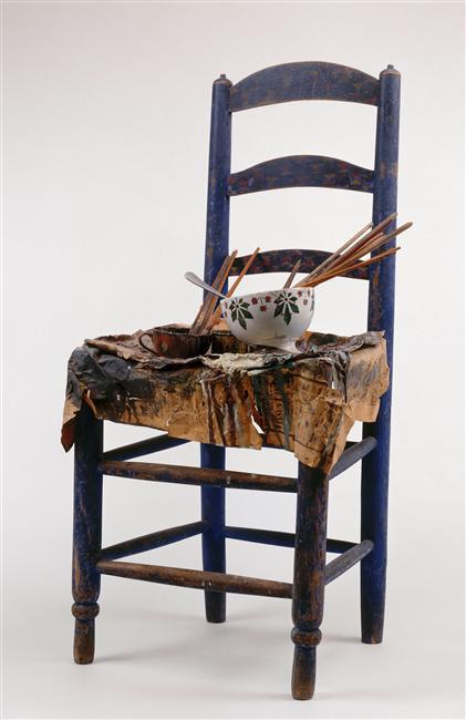 Стул с палитрой Пабло Пикассо. (Chaise avec palette de Pablo Picasso)