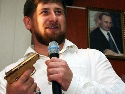 кадыров золотой пистолет