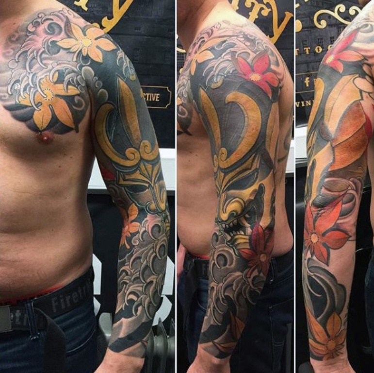 golden-masked-figure-japanese-sleeve-tattoo-for-guys.jpg