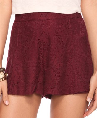F21 Lace Shorts 19.80usd