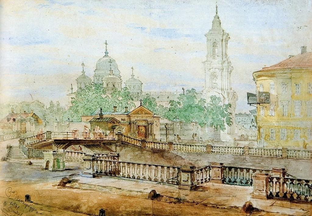 Картинки по запросу акварели храмы петербурга
