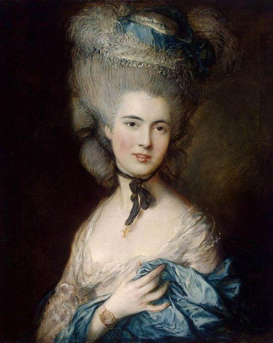 """Томас Гейнсборо """"Портрет герцогини де Бофор"""" или """"Дама в голубом"""""""