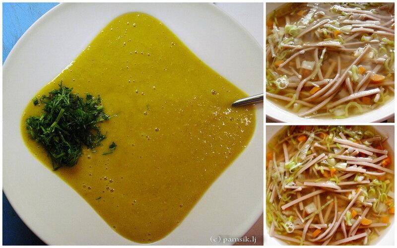 На фото справа – суп с японской лапшой-соба. Слева – просто суп-пюре из тыквы. Признаться супы-кремы не люблю - дайте, дайте мне борща! - приходилось преодолевать себя. Исключением были только кукурузный и бататовый, последний просто ммм какой вкусный. *рецепт по запросу))
