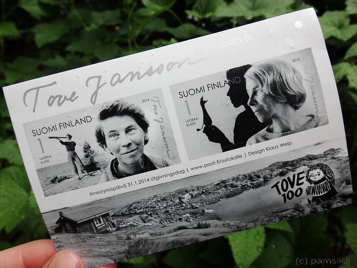 Такие марки продавались на почте Финляндии в 2014 году, в год 100-летия со дня рождения Туве Янссон.