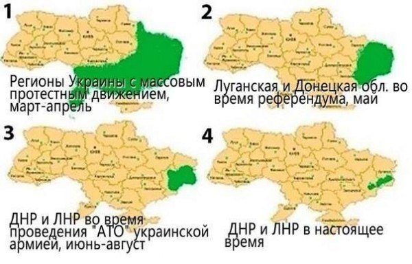 Карта Лугандонии в динамике