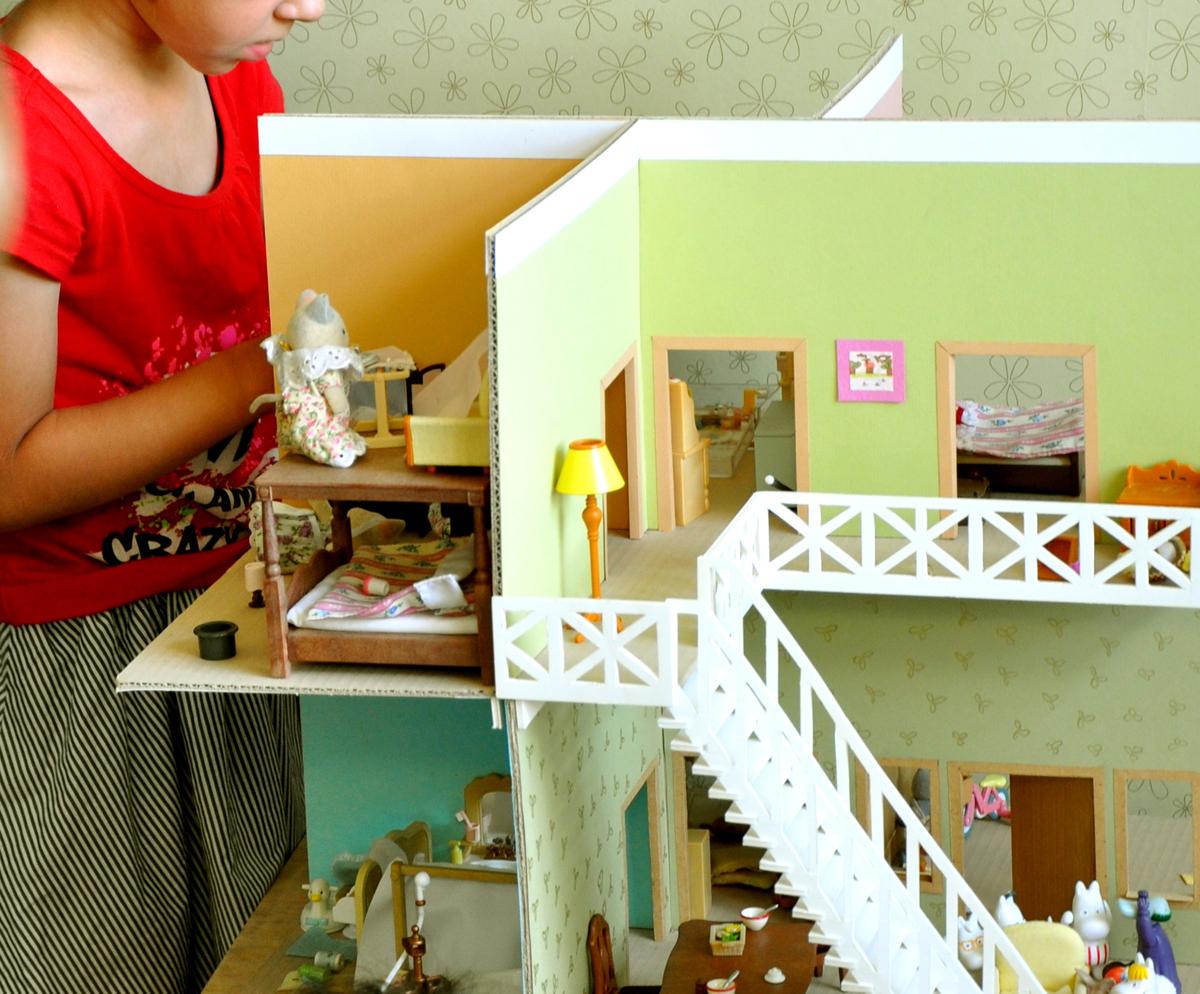 Фото дом из картона своими руками