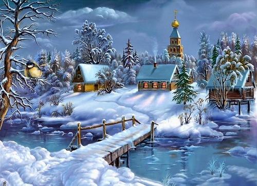 Стихи о зиме. Сосны замерли в снегу