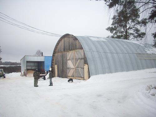 новая пилорама в селе Новотроицкое, Шабалинского района