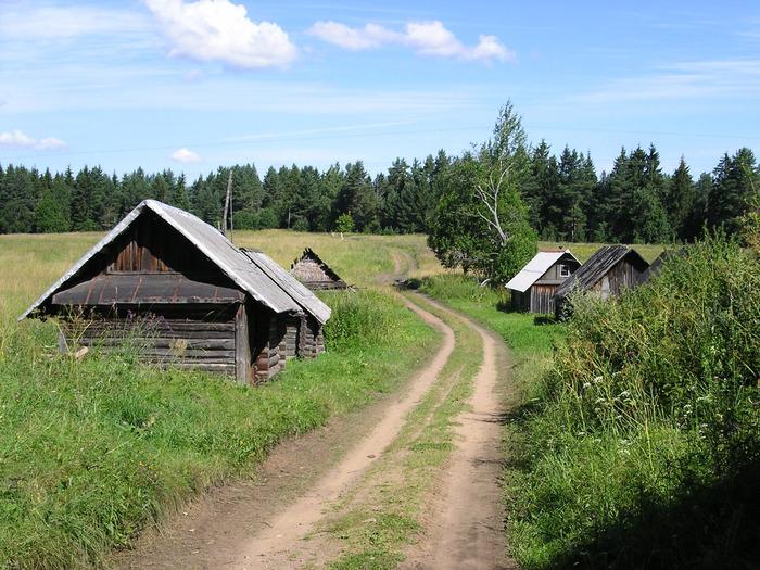 Стихи о селе.  Река начинается с лужицы