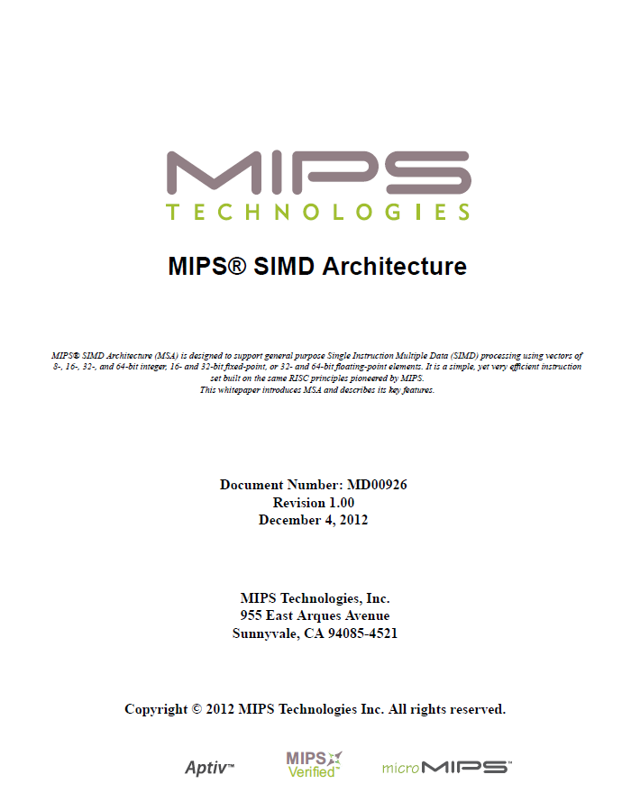mips_simd_architecture