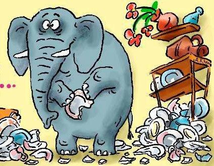 Картинки по запросу слон в посудной лавке