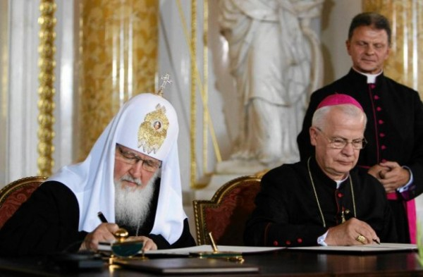 Patriarcha-Cyryl-i-abp--Michalik-na-Zamku-Krolewsk