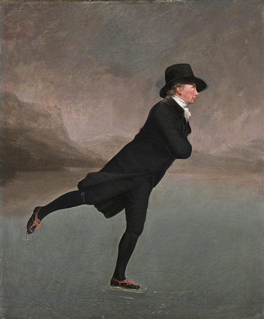 Sir Henry Raeburn, Reverend Robert Walker skating on Duddingston Loch, c1795, oil on canvas. Scottish National Gallery, Edinburgh