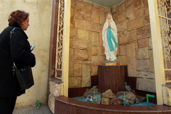 Virgin Mary Chaldean (Church of Our Lady of Sacred Heart) Karrada neighborhood Baghdad  Decr 20 2015