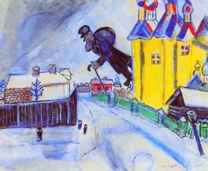 aloft vitebesk 1914 by marc shagal