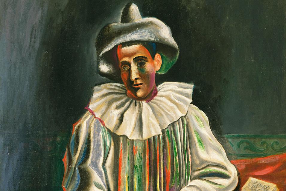 Picasso Pierrot 1918 detail