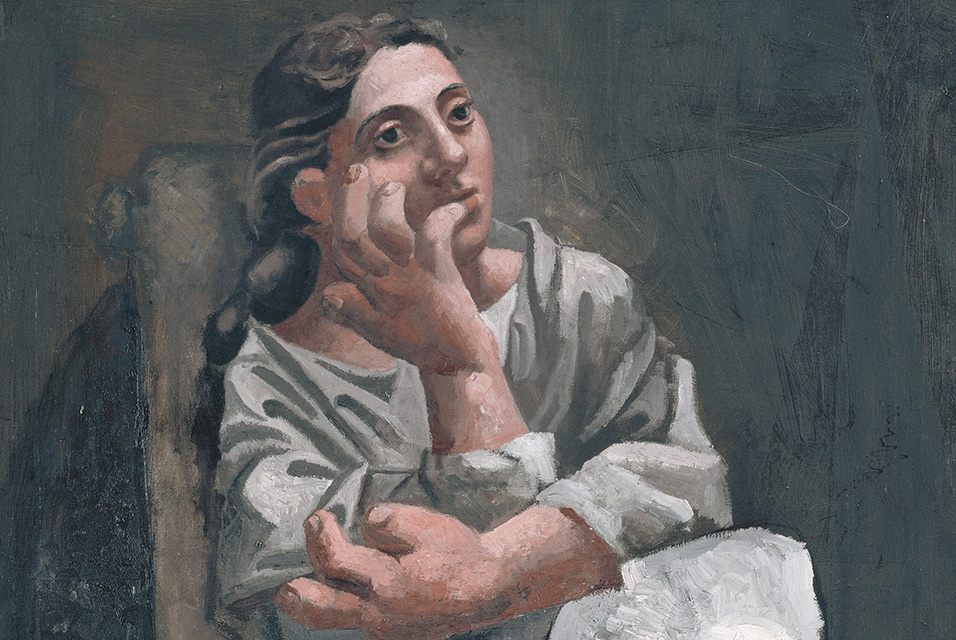 Picasso Seated Woman 1920 detail