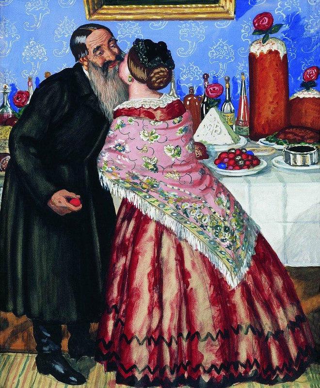 Easter by Koustodiyev 1916