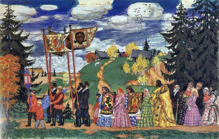 Easter by Koustodiyev 1915