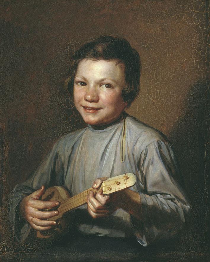 Peter Zabolotsky Boy with Balalajka 1835