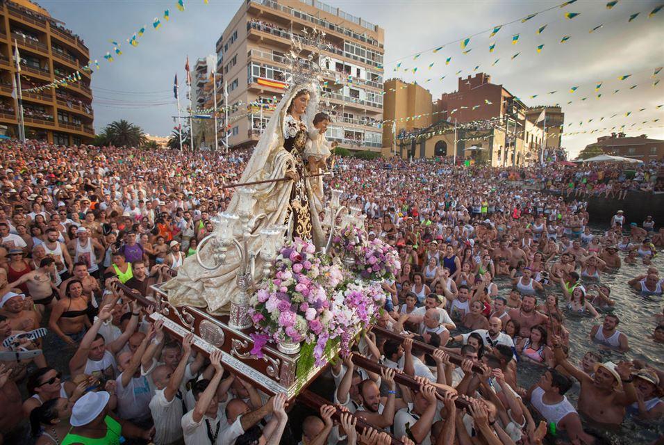 Puerto de la Cruz. Spanish Canary island Tenerife.  July 12 2014