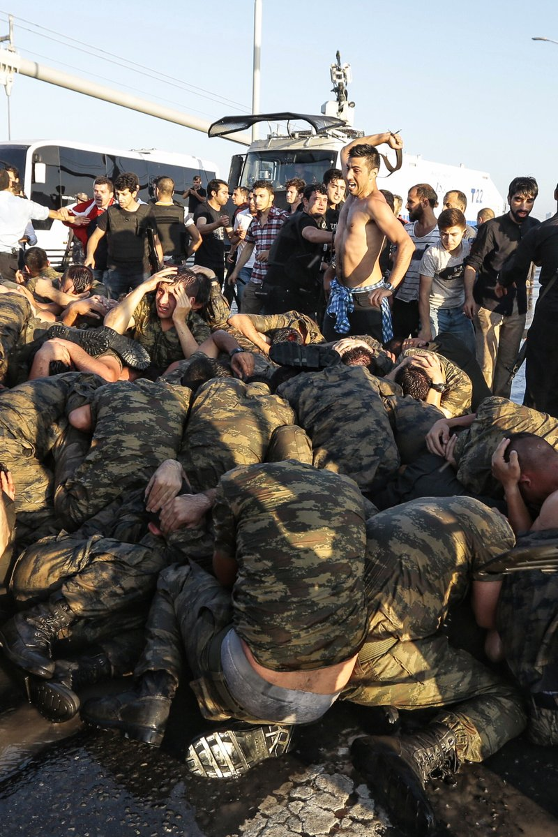Belt Punishment of Surrendered Turkish Soldiers