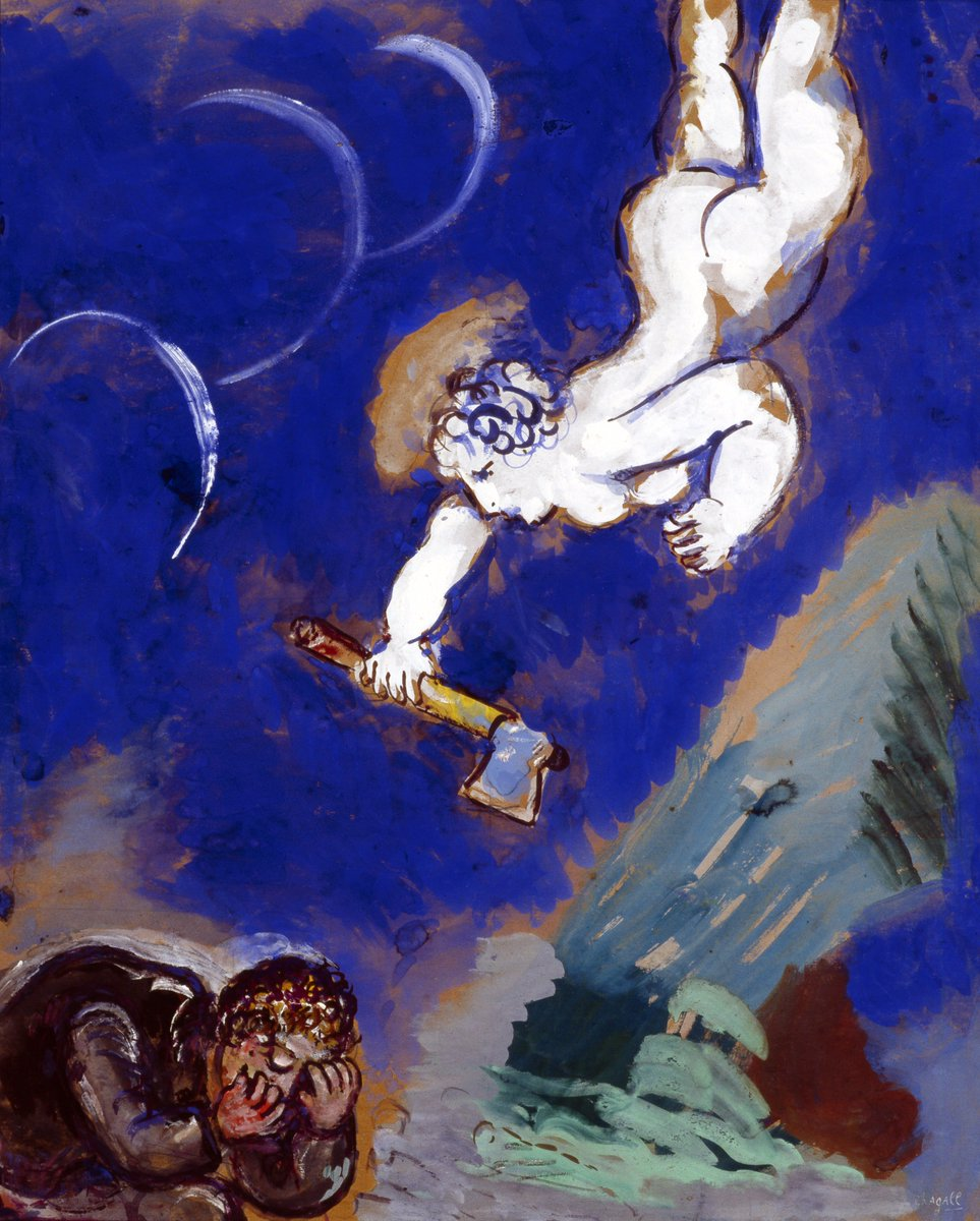 Marc Chagall, Woodcutter and Mercury