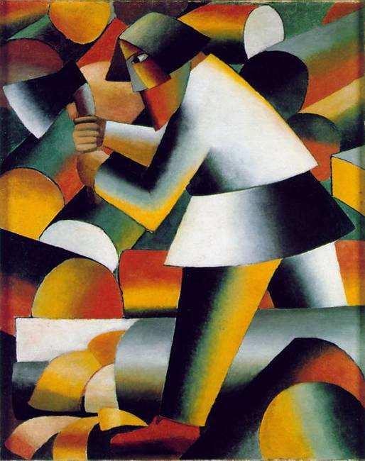 Kazimir Malevich Woodcutter