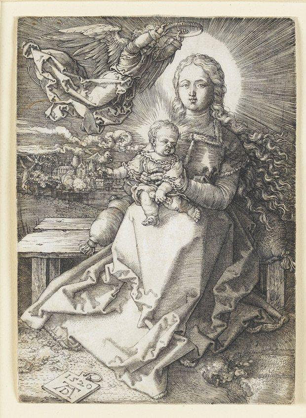 Albrecht Durer. Maria Crowned by an Angel 1520