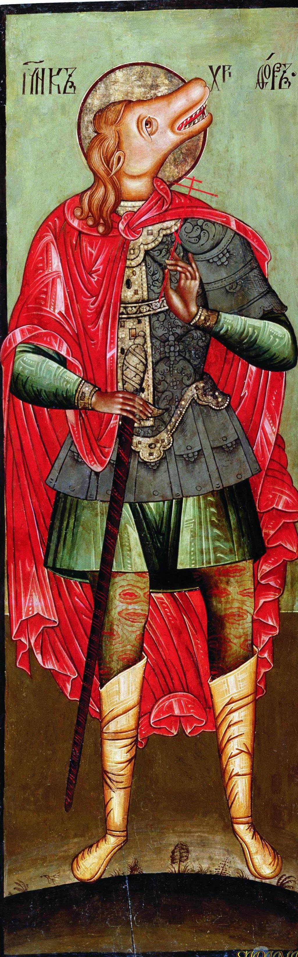 St Christophorus as Hippocephalus Cherepovets 17 c.