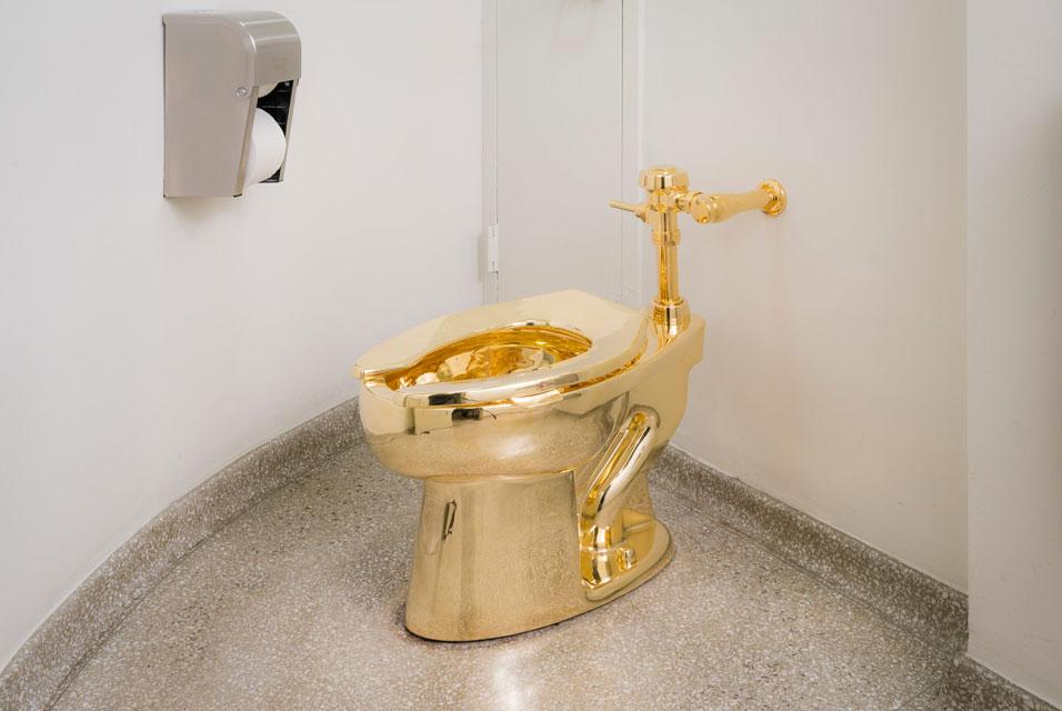 GoldToilet in Guggenheim Museum