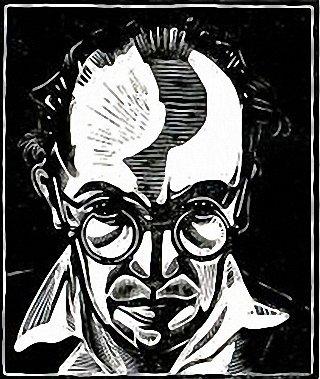 Austen Self-portrait Woodcut 1930