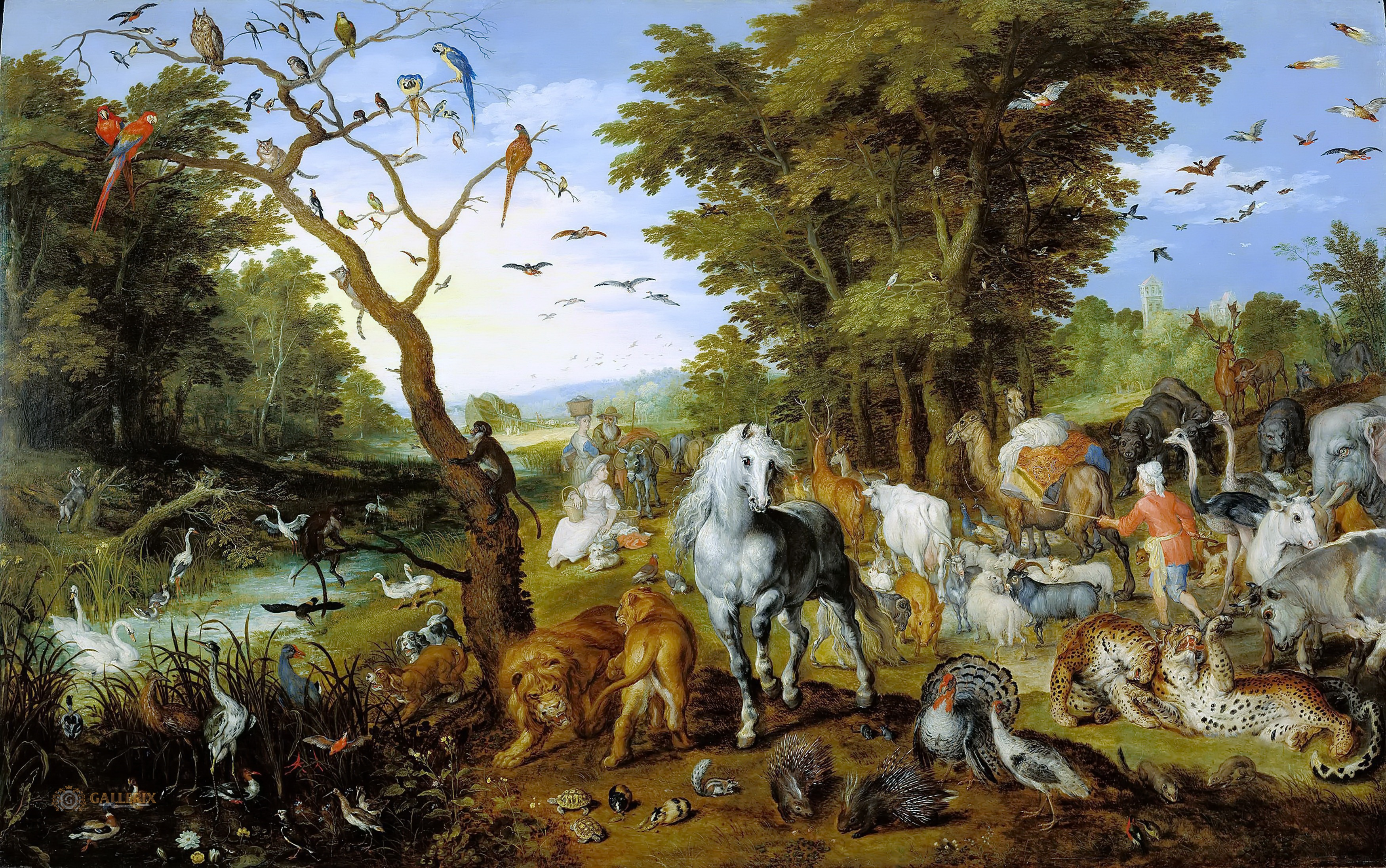 Jan Brueghel the elder, The Entry of Animals into Noah's Ark, 1613