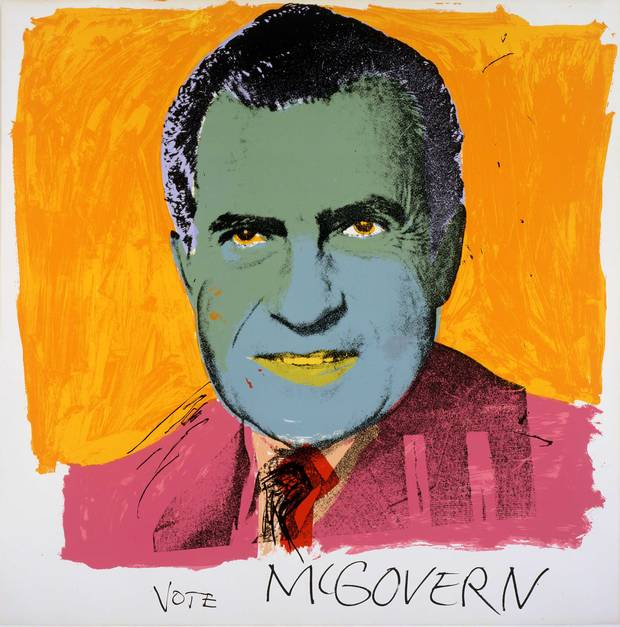 Andy Warhol. Vote McGovern. 1972. Screenprint