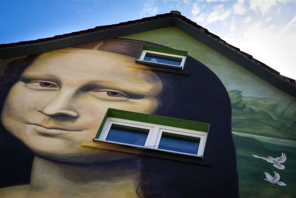by artist Volker Wunderlich is pictured on June 27, 2014 in Hollfeld, Germay.