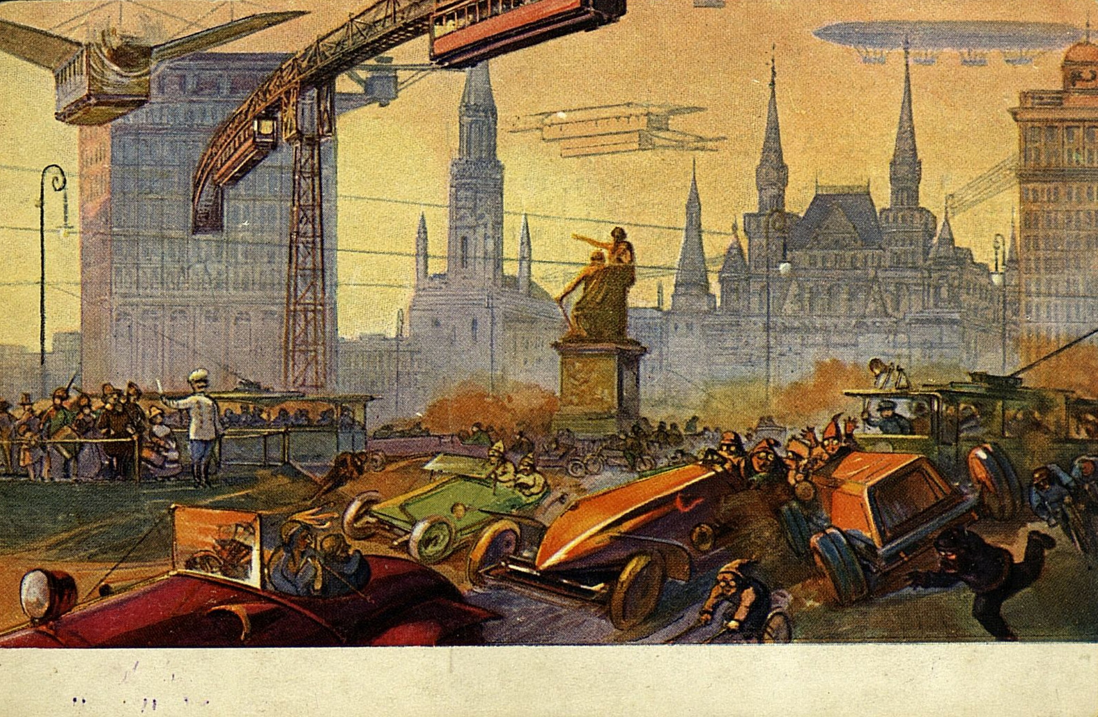 Moscow of Future, post-card 1914