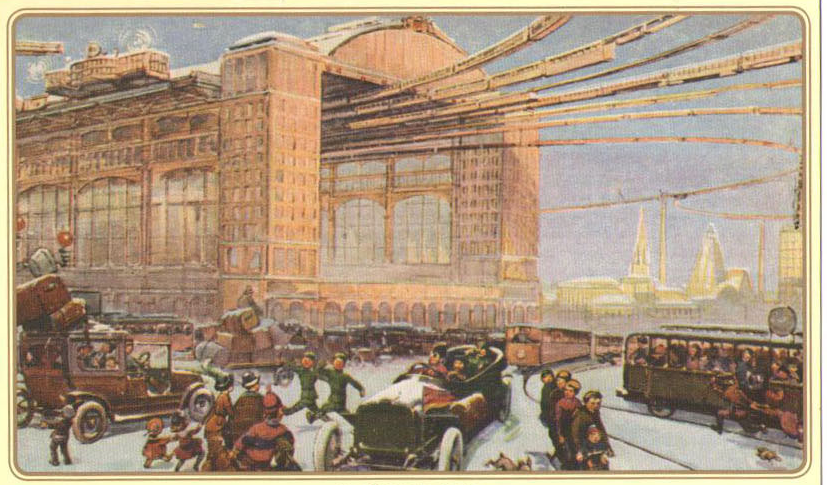 Moscow of Future, post-card 1914  1