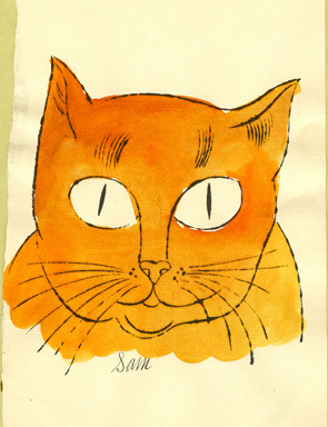 Andy Warhol, Cat (Sam), ca. 1954