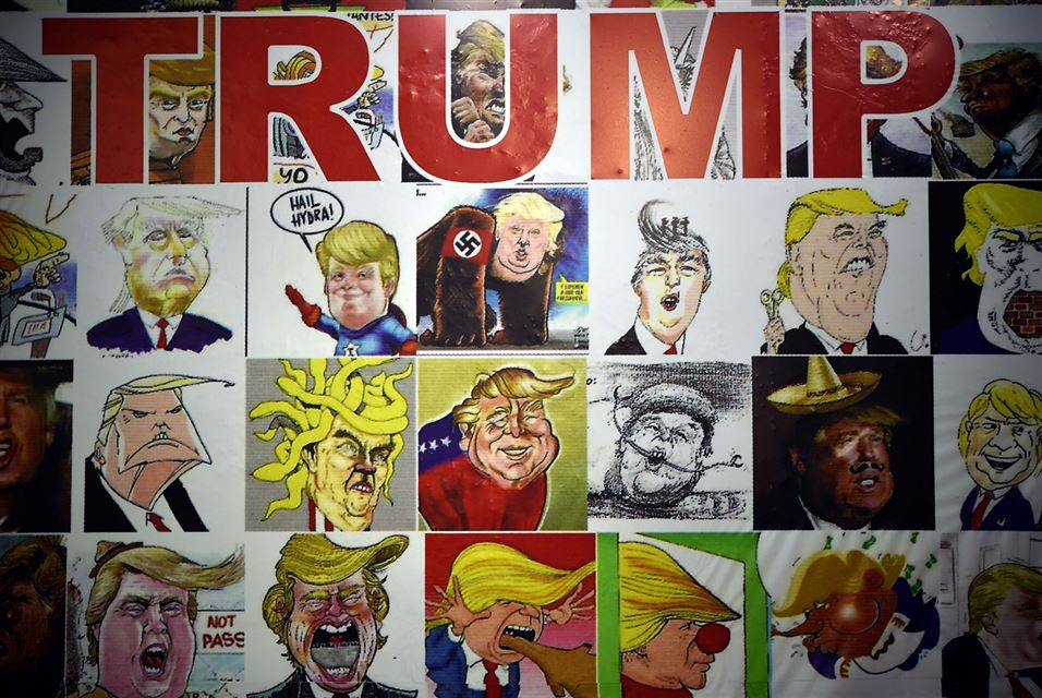 TRUMP Wall of Caricatures