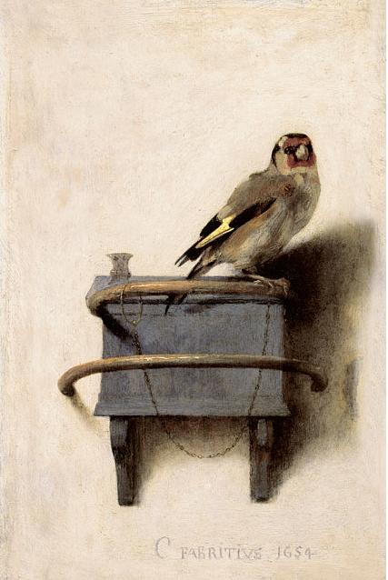 Carel Fabritius. The Goldfinch, 1654