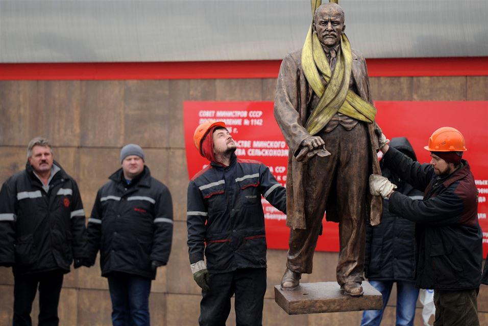 Minsk Lenin Monument 5 Nov 2016