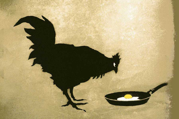 Rooster and Egg by Banksy