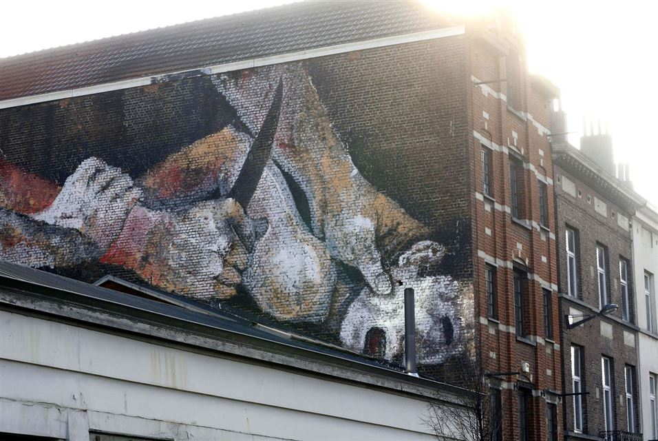 Painting on the Wall in Brussels