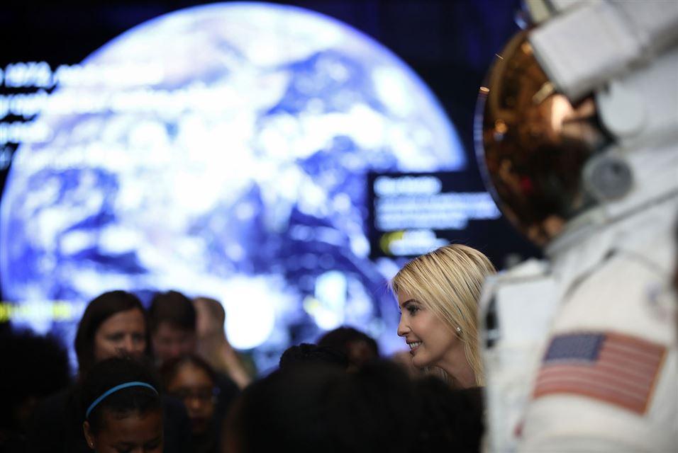 Ivanka Trump Air annd Space Museum March 28 2017