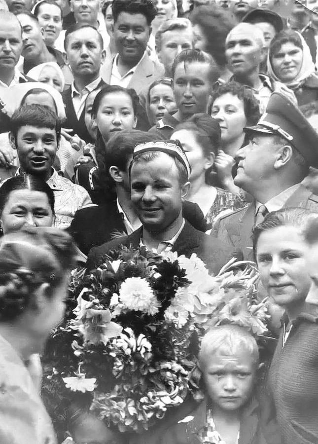 Gagarine on Issyck-Kul Lake 1964
