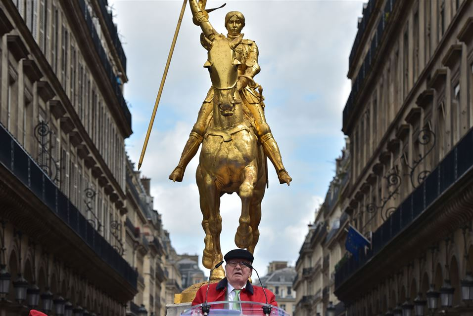 Jean-Marie Le Pen. May Day rally in honour of Joan of Arc. Paris on May 1, 2017.