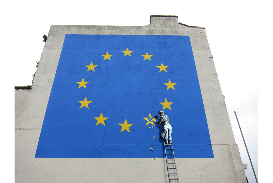 Dover May 7 2017. Banksy Brexit
