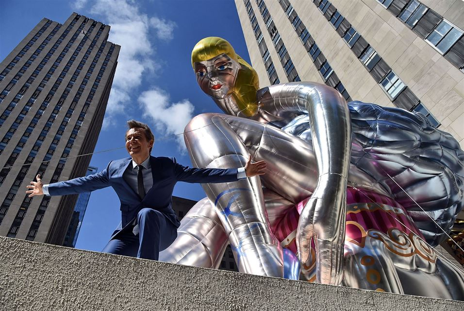 Inflatable Sculpture by Jeff Koons. Rockefeller Center. May 12, 2017